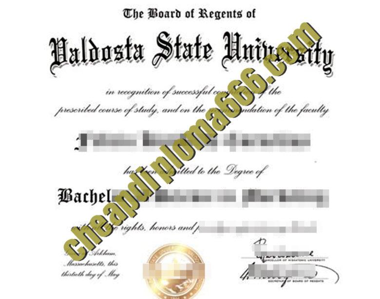 buy Valdosta State University degree certificate
