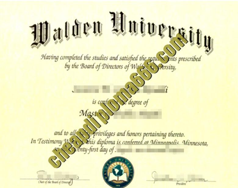 buy Walden university degree certificate