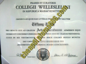buy Wellesley College degree certificate