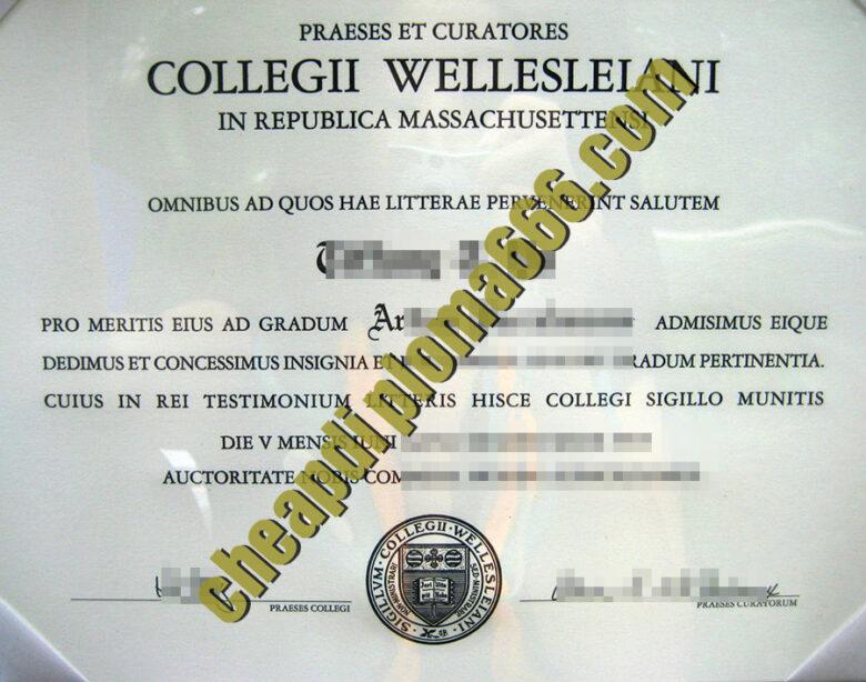 buy Wellesley College degree certificate