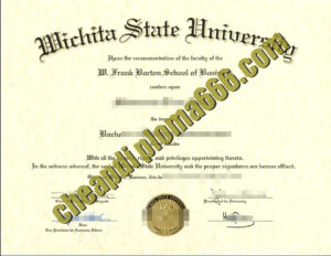 buy Wichita State University degree certificate