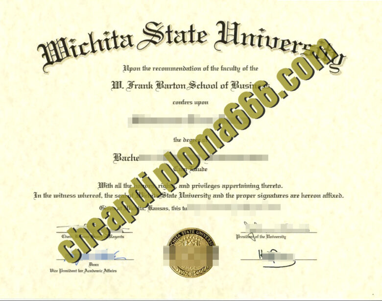 buy Wichita State University degree certificate