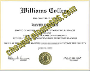 buy Williams College degree certificate