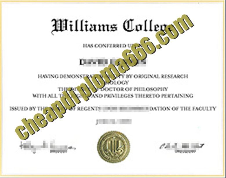 buy Williams College degree certificate