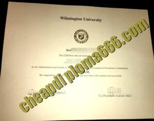 buy Wilmington University degree certificate