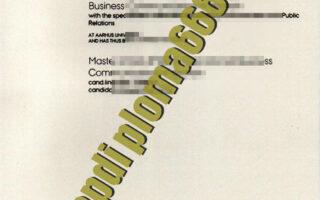 buy Aarhus Universitet degre certificate