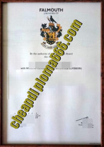 Falmouth University fake degree certificate
