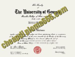 fake University of Georgia degree certificate