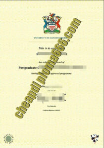 fake University of Gloucestershire degree certificate