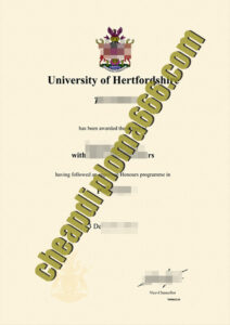 fake University of Hertfordshire degree certificate