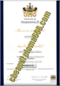 fake University of Huddersfield degree certificate