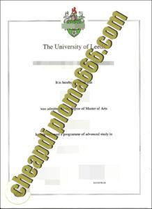 fake University of Leeds degree