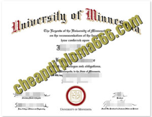 fake University of Minnesota degree certificate