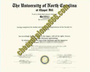 University of North Carolina at Chapel Hill degree certificate