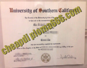 University of Southern California fake degree