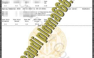 fake University of Southern California transcript