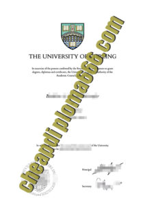 fake University of Stirling diploma