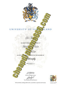 University of Sunderland fake diploma