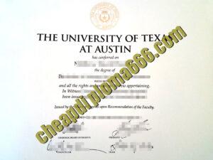 fake UT Austin degree certificate