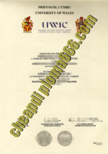 fake University of Wales Institute, Cardiff degree certificate