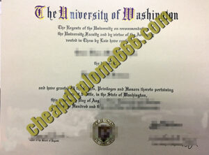 University of Washington fake degree certificate