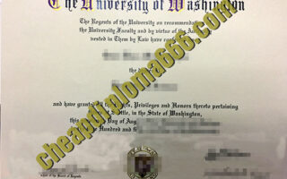 University of Washington fake degree certificate
