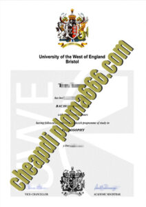 University of the West of England, Bristol degree certificate