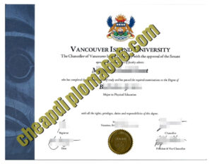 Vancouver Island University fake degree certificate