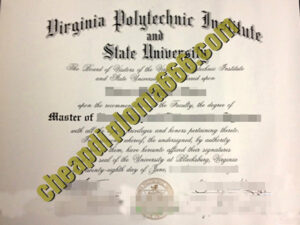 Virginia Polytechnic Institute and State University degree certificate