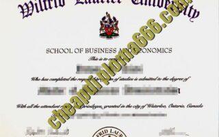 buy Wilfrid Laurier University degree certificate