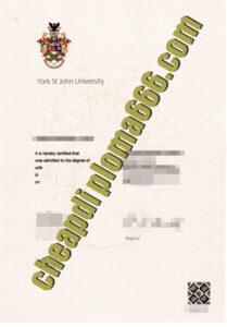 York St John University fake degree certificate