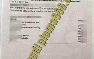 AQA fake certificate