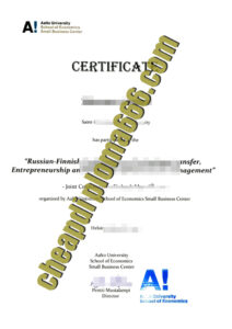 buy Aalto University degree certificate