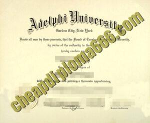 fake Adelphi University degree certificate