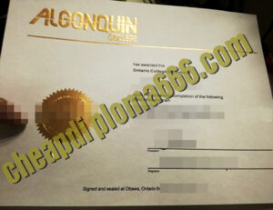 buy Algonquin College degree certificate