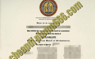 Amercian Board of Orthodontics certificate