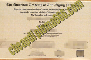 buy American Academy of Anti-aging Medicine degree