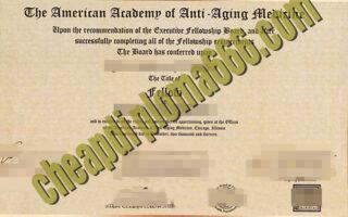 buy American Academy of Anti-aging Medicine degree