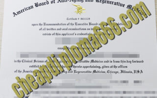 American Board of Anti-aging and Regeneratiue Medicine certificate