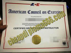American Council on Exercise fake certificate