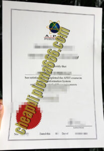Asia Pacific University of Technology & Innovation degree certificate