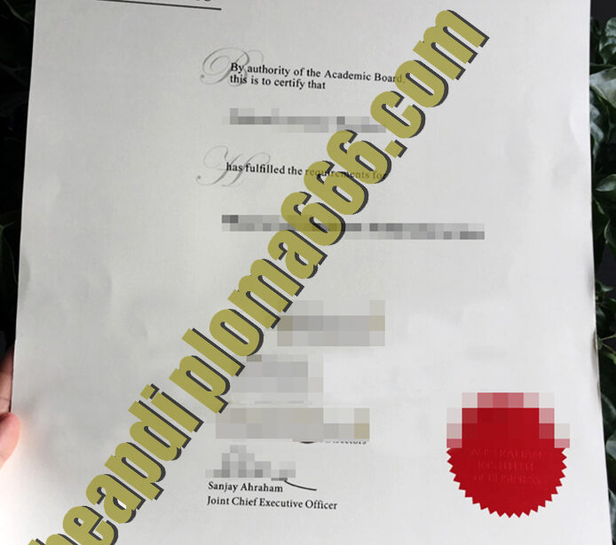 fake Australian Institute of Business and Technology certificate