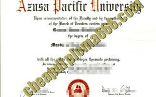 Azusa Pacific University degree certificate