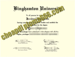 fake Binghamton University degree
