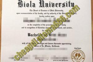 Biola University fake degree certificate