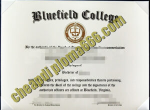 buy Bluefield College degree certificate