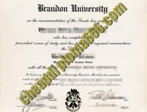 Brandon University fake degree