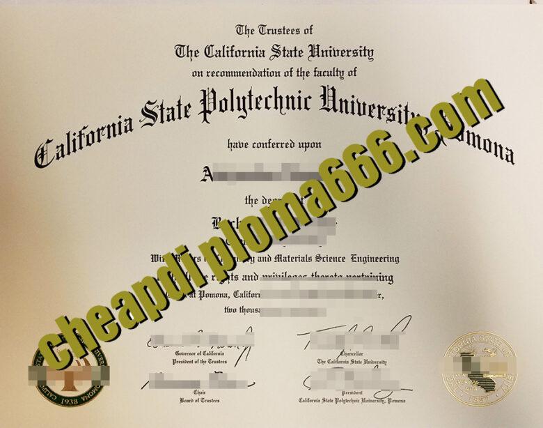 California State Polytechnic University, Pomona degree