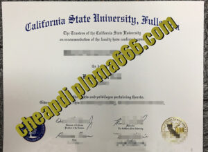 California State University, Fullerton degree