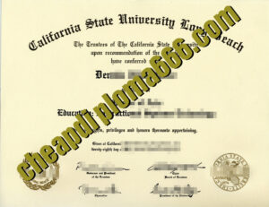 fake California State University  Long Beach degree